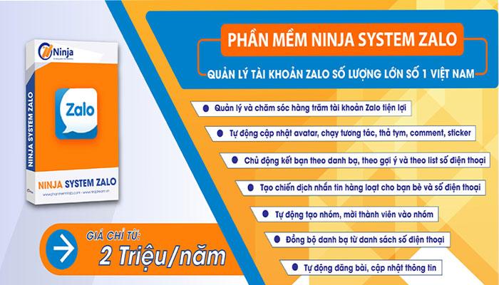 phan mem nuoi nick zalo 2 1 Ninja System Zalo   Phần mềm nuôi nick Zalo hiệu quả